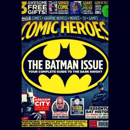 For all my #Batman fan followers! #ComicHeroes Magazine - The Batman Issue! The Complete Guide to The #DarkKnight! 70 years of Bat-History! Bats on #tv and in the #movies! #ArkhamCity #GrantMorrison #Poster #Comics #GraphicNovels #Games  (Taken with Instagram)