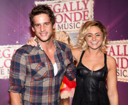 LEGALLY BLONDE: THE MUSICAL OPENING - DAN EWING & MARNI LITTLE We all loved the super sweet antics of Reese Witherspoon in the Hollywood blockbuster, and now the hilariously entertaining antics of Elle Woods are being brought to the stage. Featuring some of Australia's leading musical theatre stars including Lucy Durack and Rob Mills, 'Legally Blonde: The Musical' opened in Sydney last night! Some of Australias hottest media personalities attended the Gala Premiere and here are the hottest shots for YOUR viewing pleasure!Image Source: Legally Blonde The Musical Australia Official Site