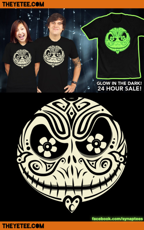 synaptyx:  Jack de los Muertos is here for 24 hours on THE YETEE! http://www.theyetee.com/ :D Share and Like the post on my facebook page Like to win stickers! (draw tomorrow) (This give-away is not sponsored, endorsed, administered by, or associated with Tumblr/Facebook in any way.)