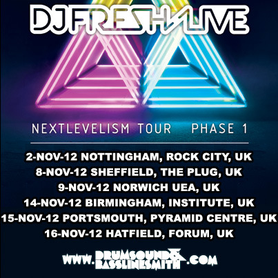 Big News! We're supporting DJ Fresh on his Nextlevelism Tour! Full details here: http://bit.ly/PWt2u9