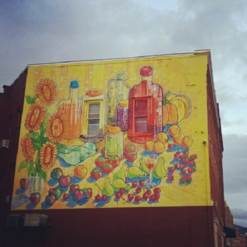 great fruit mural, guys #rutland  #vt (Taken with Instagram at The Opera House)
