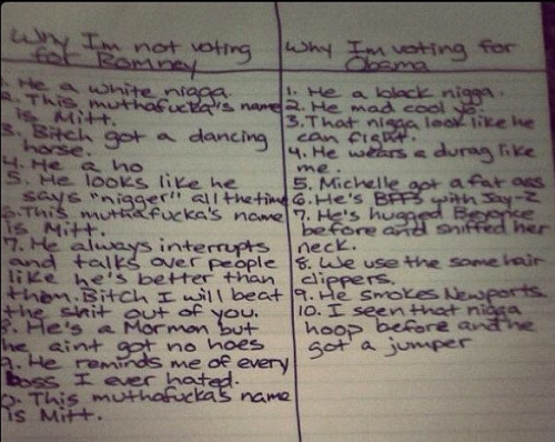 Snoop Dogg's reasons for not voting for Mitt Romney. Via Instagram.