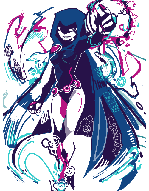 birdstump:  Raven, by pin