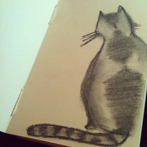 Trying out a charcoal pencil (Taken with Instagram)
