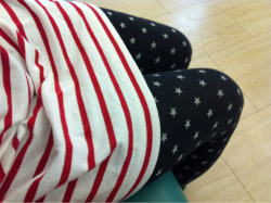 Didn't know the wifey loved the US so much. Today's fashion: stars & stripes