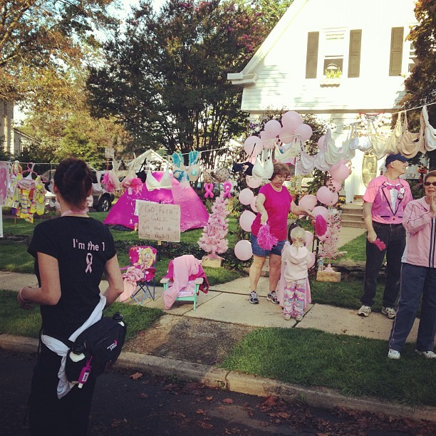 Houses & streets decorated for 3 Day. Supporters everywhere! (Taken with Instagram)