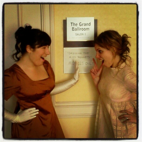 Duking it out for Mr. Darcy #janeausten (Taken with Instagram)