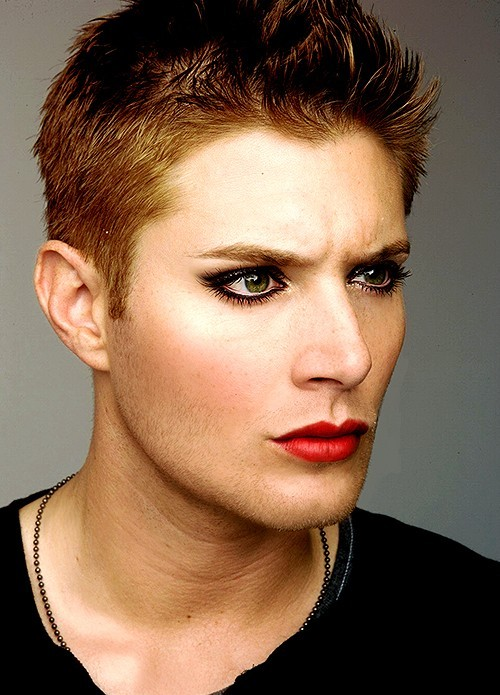 Jensen Ackles in make-up, Is it weird that I find this incredibly hot? lmfao!!