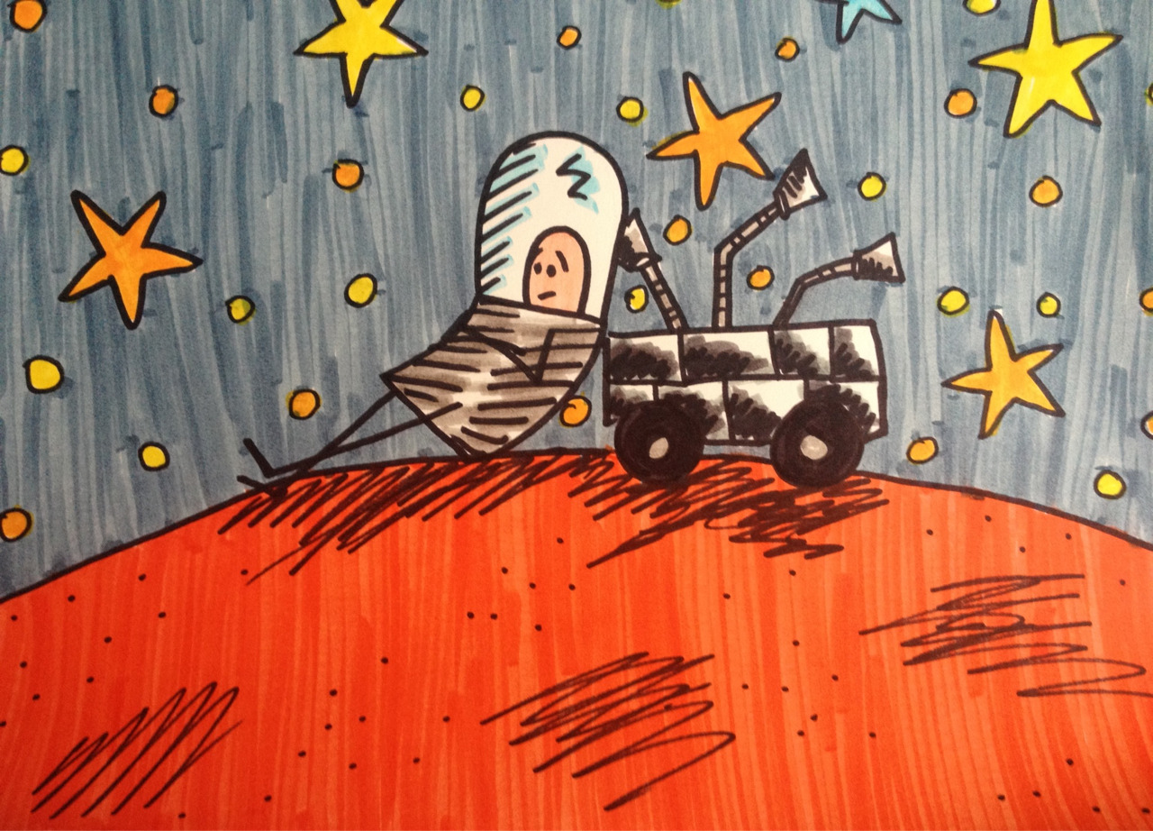 captain-spaceman:  Captain Spaceman and Curiosity just watching the stars