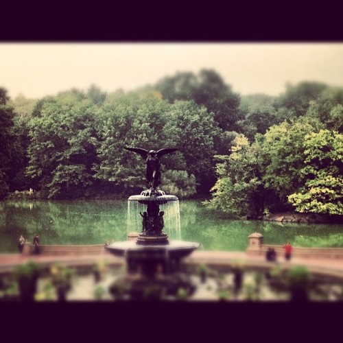 Bethesda Fountain after the rain #centralpark #bethesdafountain #nyc (Taken with Instagram)