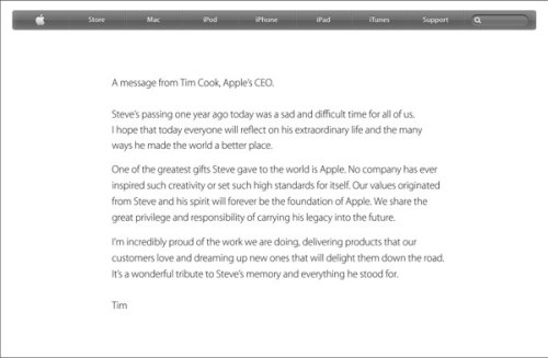 A message from Apple CEO Tim Cook