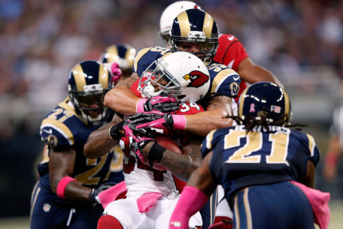 St. Louis Rams' defense takes charge of Cardinals