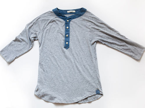 Have you checked out the Mens chambray trimmed Henley we made for @OfAKind yet?? As always crafted with care in the gold old US of A.