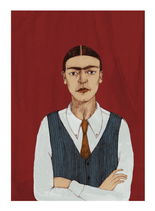 Frida Kahlo Androgyny Print, available for purchase from my shop