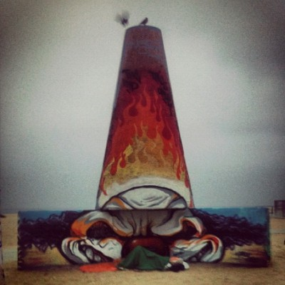 New #grafiti piece in #venice  (Taken with Instagram at Venice Beach)