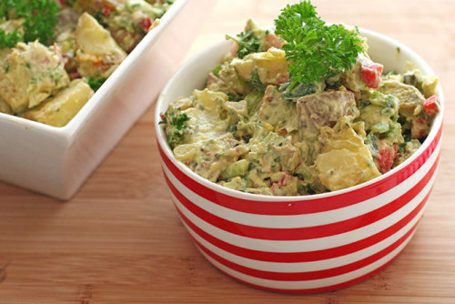 Garlic Roasted Potato Salad (Vegan + Gluten Free) - recipe here