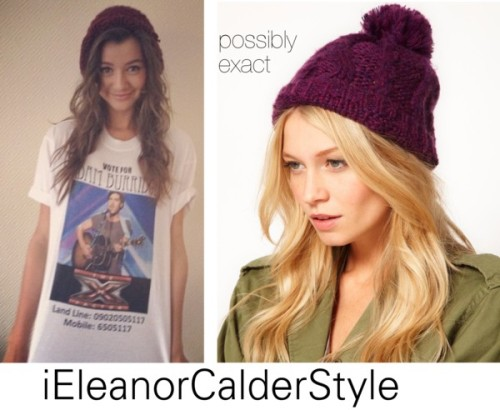Eleanor was pictured wearing a customized 'Voted Adam Burridge X Factor T-Shirt' and this possibly exact.