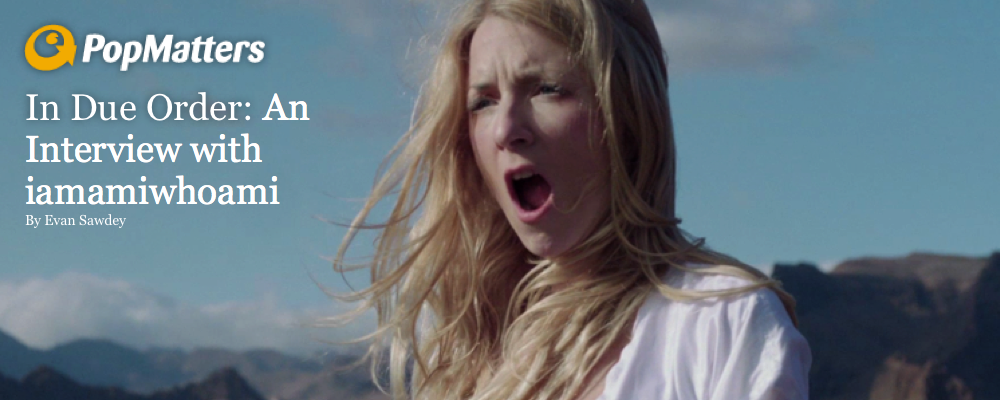 "PopMatters interviews iamamiwhoami.   ""The songs of 'kin' all represents 1 emotion, 1 event or 1 obstacle.""  Read here"