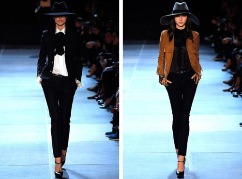 Saint Laurent have a new Spring/Summer 2013 Collection courtesy of their newest recruit, Hedi Slimane who replaced Stefano Pilati.