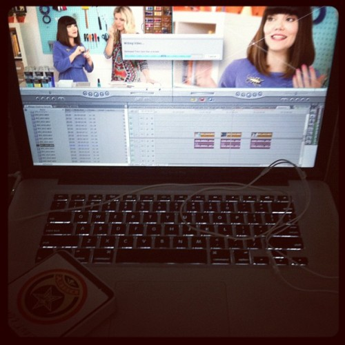 #editing next Thursday's #RecreateDIY video for @aboutvideo featuring @lovemaegan  (Taken with Instagram)