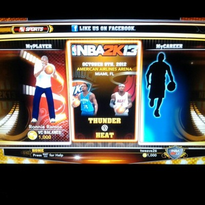 Oh yeah! #nba2k13 #basketball #gamer #yeah  (Taken with Instagram at Ramos Residence)