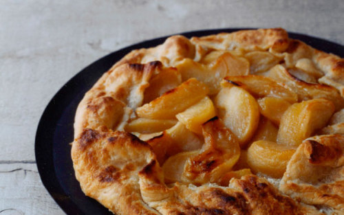 Apple Galette We are going apple picking this weekend. We plan to eat at least a dozen apples while picking. (Not to mention a few warm apple cider donuts after the strenuous work of picking apples from a tree) And then we are going to bring home the extra apples and make this galette. Recipe here What's your favorite thing to make with apples?