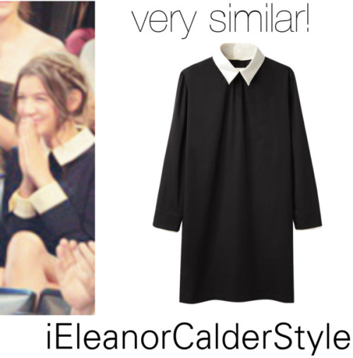 Eleanor at the VMA's. She wore a Victoria Beckham dress but this dress is very similar. It just doesn't have white cuffs.