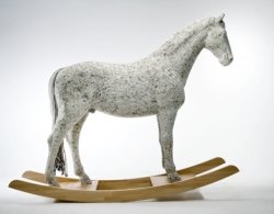 (via MAKE | Rocking Horse Covered in Computer Keys) Making something pretty out of things that are frankly ugly.