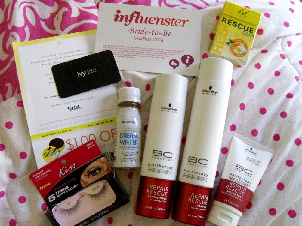 So happy I was chosen to be a recipient of a voxbox from Influenster. I received all of these products complimentary of Influenster for testing purposes. Be sure to check out influenster.com if you don't know what I'm talking about. It's only been a day so I havn't had the chance to review any yet. Looking forward to using the Repair Rescue hair products tonight though!  You can read more about each individual product here :)
