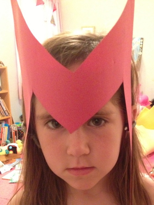 Scarlet Witch  Amazing mask by Mom.  I really like my family.