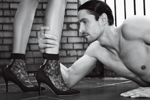 Saks Sexy Shoe #24: Valentino's lace bootie with 85-millimeter heel. Vote for your sexiest shoe at www.footwearnews.com/sexyshoes and enter to win a $10K shopping spree at Saks Fifth Avenue.