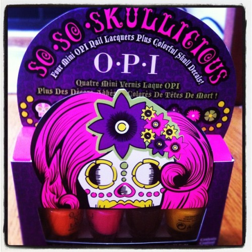 Halloween sugar skull nail polish - yay! Thanks @opinails @opi_products #nailart (Taken with Instagram)