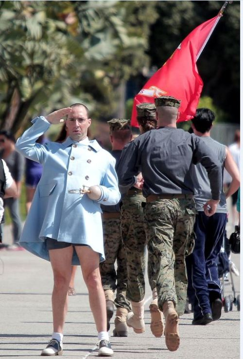 Tony Hale on the set of the new Arrested Development. [via]