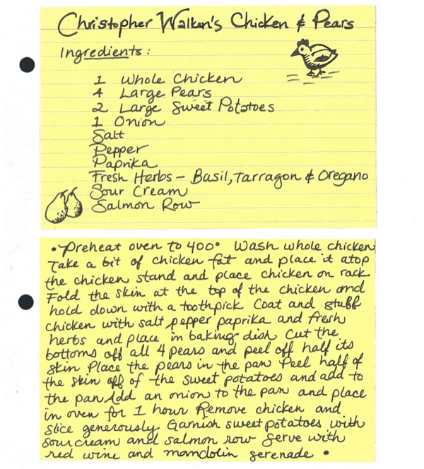 funnyordie:  Christopher Walken's Cooking Recipes Now you can make all your favorite dishes from Cooking with Walken at home!  sounds awesome, minus the caviar and mandolin….. lols. may have to actually make this tho.