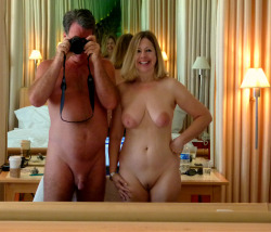 nudistandsexy:  terracottainn:  Nude in San Francisco. We were there this summer for a few days. We're always nude in our hotel room (I hate wearing clothes). They had a big mirror in our room, so Tom took a nude photo of us together. What do you think? Have a fun naked weekend. Feel free reblogging so everyone can see nudism is fun. Ask to follow, I always approve everyone  MC http://terracottainnblog.com