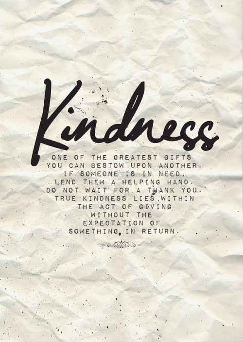 KindnessA3 Poster promoting 'Kindness'