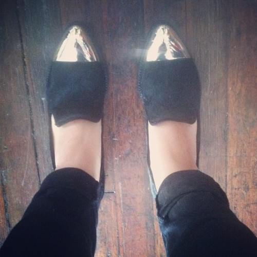 Rachel Roy pony hair flats (Taken with Instagram)