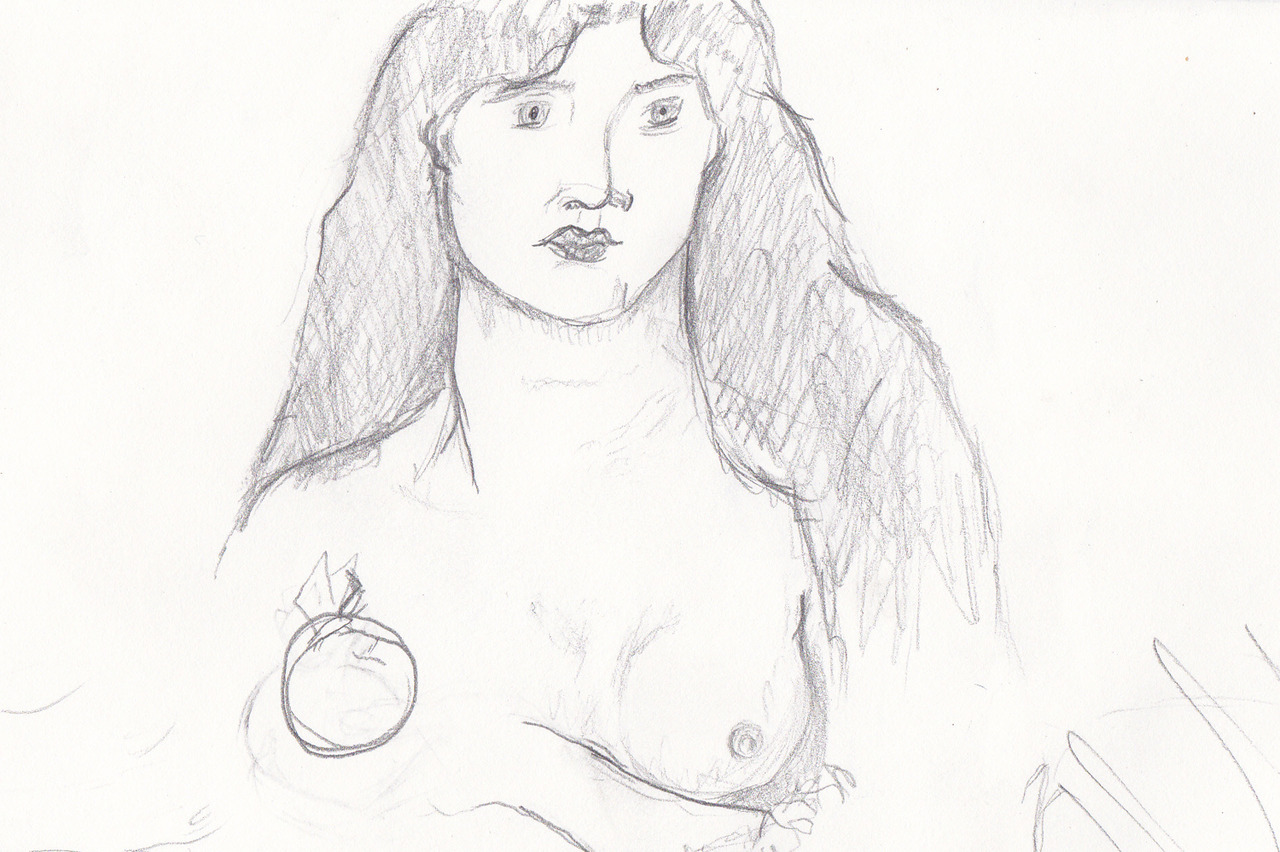 locustcry:  Quick study of Venus Verticordia,by Dante Gabriel Rossetti, done with a 4B pencil in about 20 minutes. I chose to concentrate on the face, hair, and shoulders. It was a good exercise in using shading to create and accentuate form.
