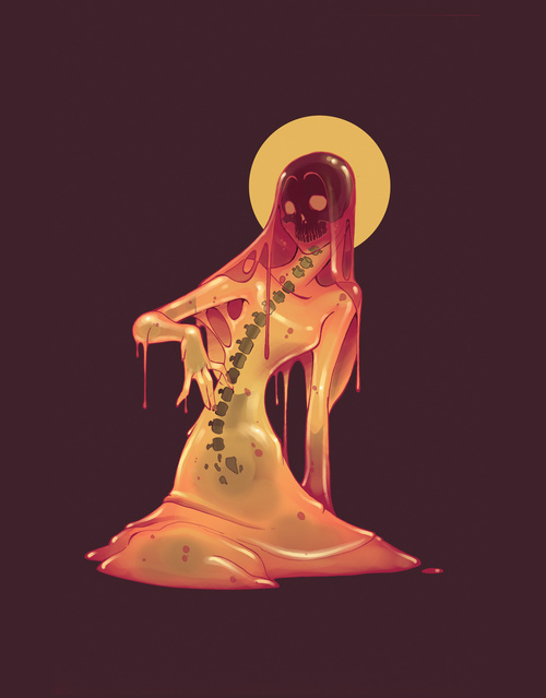 (via Slime Girl Art Print by Travis James | Society6)