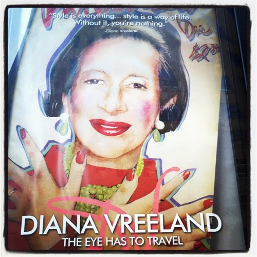 cfda:  Anyone seen this Diana Vreeland movie at the Angelika yet? (Taken with Instagram)  Yes yes!