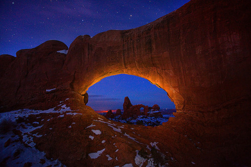 Arches NP, Turret Arch by kevin mcneal on Flickr.