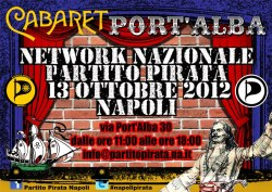 National network pirate party in Naples this 13/10/2012 #napolipirata #partitopirata (Image made by Domenico Barra - www.behance.com/dombarra)