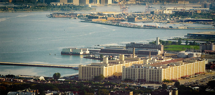 10th Annual OHNY Weekend featuring Brooklyn Army Terminal It's the 10th anniversary of openhousenewyork, which offers unprecedented access to New York City's great wealth of architecture, design, history and culture. As you plan your weekend, be sure to add Brooklyn Army Terminal to your openhousenewyork itinerary. Stop by Saturday, October 6th between 11AM and 5PM to explore this historic landmark that has recently been reactivated into a hub for light industrial businesses. How to get there? Great news: New York Waterway is providing FREE ferry service between the Wall Street/Pier 11 terminal in Lower Manhattan and the Brooklyn Army Terminal in Sunset Park for openhousenewyork during those viewing hours. 