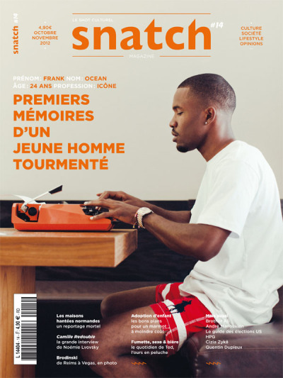 Frank Ocean for Snatch Magazine [Oct/Nov 2012]