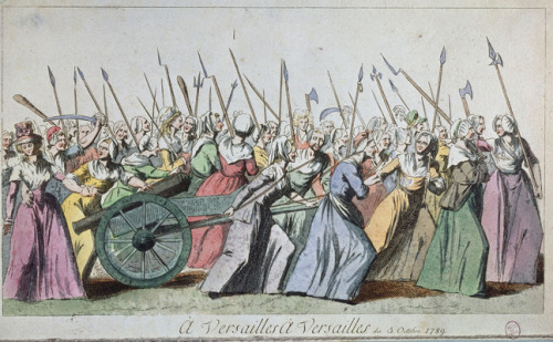 Journées révolutionnaires des 5 et 6 octobre 1789 @credits  The Women's March on Versailles, also known as The October March, The October Days, or simply The March on Versailles, was one of the earliest and most significant events of the French Revolution. The march began among women in the marketplaces of Paris who, on the morning of 5 October 1789, were near rioting over the high price and scarcity of bread. Their demonstrations quickly became intertwined with the activities of revolutionaries who were seeking liberal political reforms and a constitutional monarchy for France. The market women and their various allies grew into a mob of thousands and, encouraged by revolutionary agitators, they ransacked the city armory for weapons and marched to the Palace of Versailles. The crowd besieged the palace and in a dramatic and violent confrontation they successfully pressed their demands upon King Louis XVI. The next day, the crowd compelled the king, his family, and most of the French Assembly to return with them to Paris. These events effectively ended the independent authority of the king. The march symbolized a new balance of power that displaced the ancient privileged orders of the French nobility and favored the nation's common people, collectively termed the Third Estate. Bringing together people representing disparate sources of the Revolution in their largest numbers yet, the march on Versailles proved to be a defining moment of that Revolution.