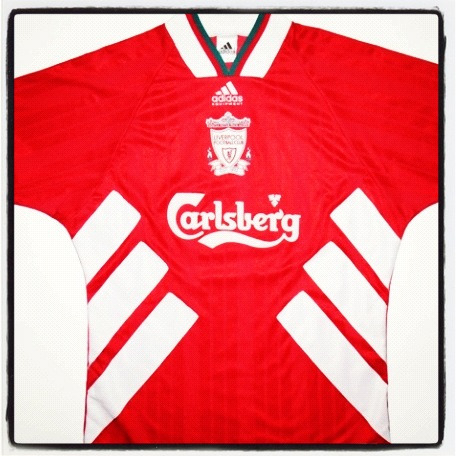 Liverpool football shirt, Adidas, 1994/5