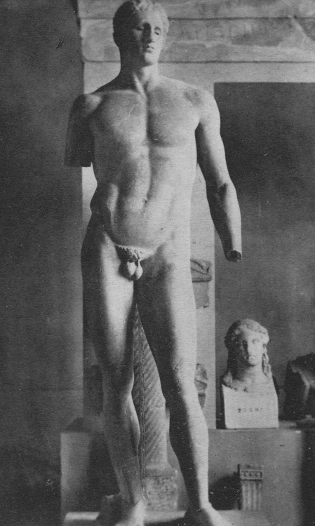 Statue of the athlete Agias, from Delphi, c. 335 BC