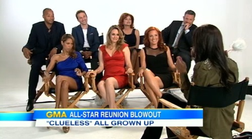 noraleah:  Cute interview with the reunited Clueless cast. (via hulu) I want whatever Stacey Dash is having. Jesus. Christian apparently now sells insurance in Rochester, and whomever put Alicia in tight red satin for a sit-down interview is mean.   Awww but no Tai.