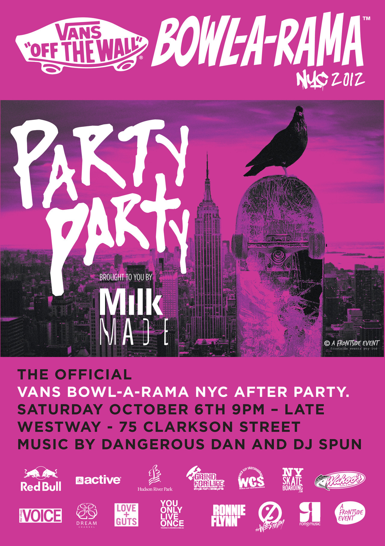 Hey New York, We are throwing a party. No Parents. No rules.  Find out more about coming to this Milk Made event here.