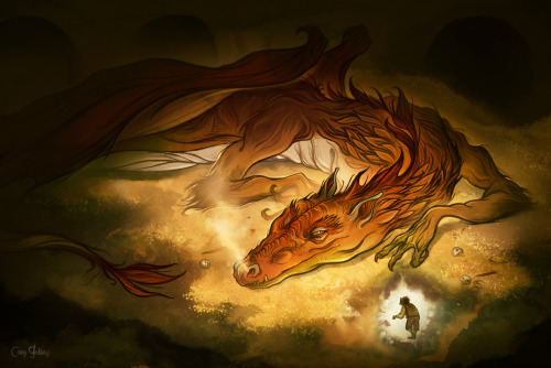 "At last! The ""Hobbit week"" series over on my main blog concludes with Smaug the Golden. Smaug the Magnificent."